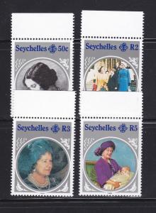 Seychelles 567-570 Set MNH Queen Mother