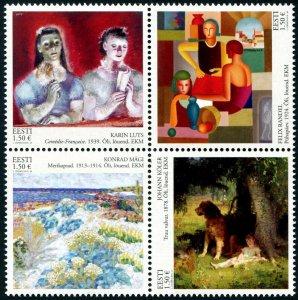 HERRICKSTAMP NEW ISSUES ESTONIA Sc.# 880 Classic Paintings Block