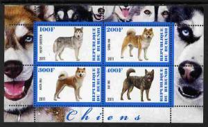 BURUNDI SHEET MNH DOGS