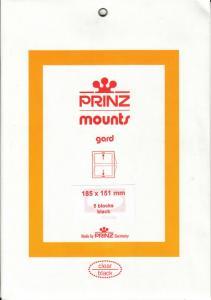 PRINZ BLACK MOUNTS 185X151 (5) RETAIL PRICE $10.50