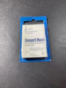 SHOWGUARD MOUNTS-J---40 x 25---PRE-CUT--40 PACK--DARK BACKGROUND--NEW-OLD STOCK