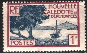New Caledonia. 1928. 136 from the series. Landscape, bay, ship. MLH.