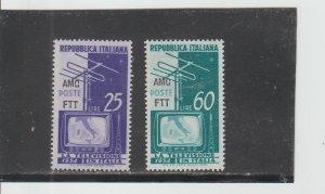 Trieste  Scott#  196-197  MH  (1954 Overprinted)