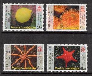 BRITISH ANTARCTIC 2007 Marine Invertebrates; Scott 382-85, SG 452-55; MNH