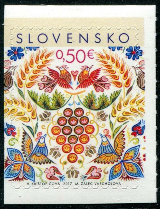 HERRICKSTAMP NEW ISSUES SLOVAKIA Sc.# 779a Christmas 2017 Self-Adh. Booklet