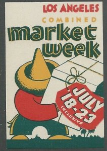 Los Angeles Combined Market Week, Early Poster Stamp, Cinderella Label