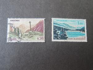 French Andorra 1961 Sc 150,153 FU