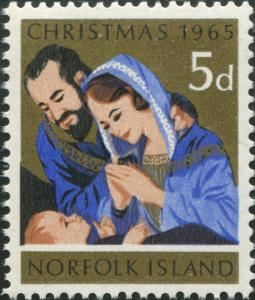 Norfolk Island 1965 SG59 5d Christmas nativity MNH