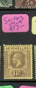 SEYCHELLES  (P2705B)   KGV  18C  SG  88B   MOG