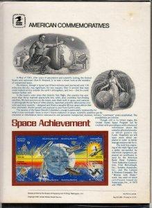 1981 Sc CP143 Space Achievement USPS commemorative panel Sc 1919a