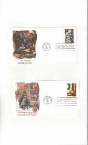 US Christmas 1980  # 1842-3  Fleetwood Cachets