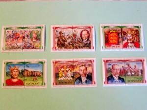 St. Vincent, 731-36, MNH Set (Pairs). WW I, King George. SCV - $2.00