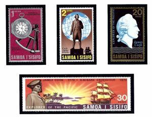 Samoa 329-32 MNH 1970 Capt James Cook