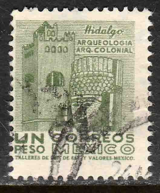 MEXICO 928, $1Peso 1950 Definitive 2nd Printing wmk 300. USED. F-VF. (1418)