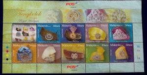 Malaysia Scott # 1213 Royal Headgear Stamp Set MNH