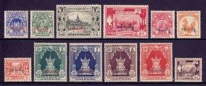 BURMA (MYANMAR) — SCOTT O56-O67 — 1949 OFFICIAL OVERPRINT SET — MNH — SCV $39