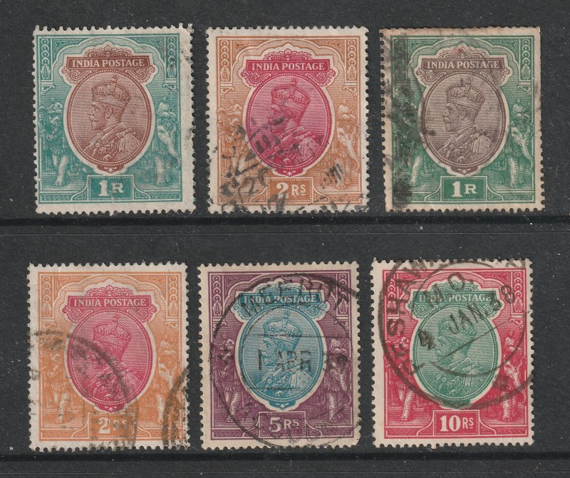 India a small lot of KGV used high values