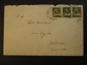 1927 Zurich Switzerland to Ashland Ohio USA Cover
