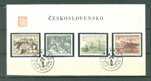 CZECHOSLOVAKIA  1952 #548-551...SET on DAY of ISSUE SHEET..MINT VERY LIGHT H.