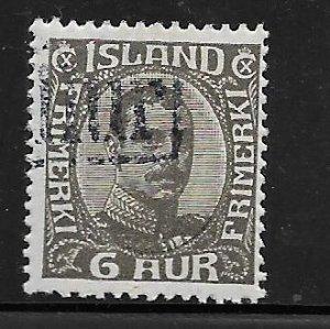ICELAND 113, USED,  R.C, CHRISTIAN X,