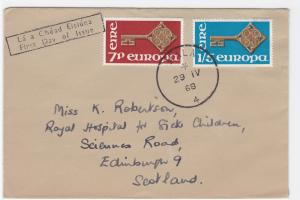 Eire 1968 Mala to Scotland  stamps cover R20472