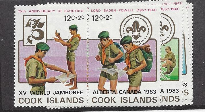 Cook Island, 705-08, Boy Scouts Singles,**MNH**