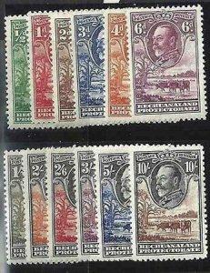Bechuanaland Protectorate 1932 SC 105-116 MLH Set