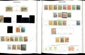 Argentina 1899-1966 Remaindered Mint & Used on 62 Specialty Pages.