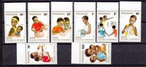 J27285 1981 rwanda set mnh #1019-26 children