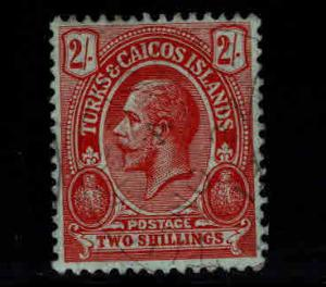 Turks and Caicos Islands Scott 34 Used CTO from 1913-16 KGV set CV $42