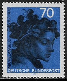 Germany #1161 MNH Stamp - Head - Art - Michelangelo
