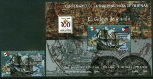 MEXICO 2079-2080, Phillipine Independence Centennial with SS. MINT, NH. VF. (69)