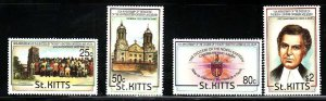 St. Kitts-Sc#356-9- id7-unsed NH set-Diocese anniversary-Churches-1993-