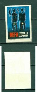 Denmark. Poster Stamp. NEFA Bicycle Lamp & Batteries.