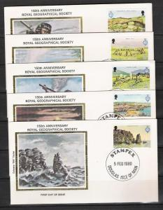 Isle Of Man #163 FDC Royal Geographical Society
