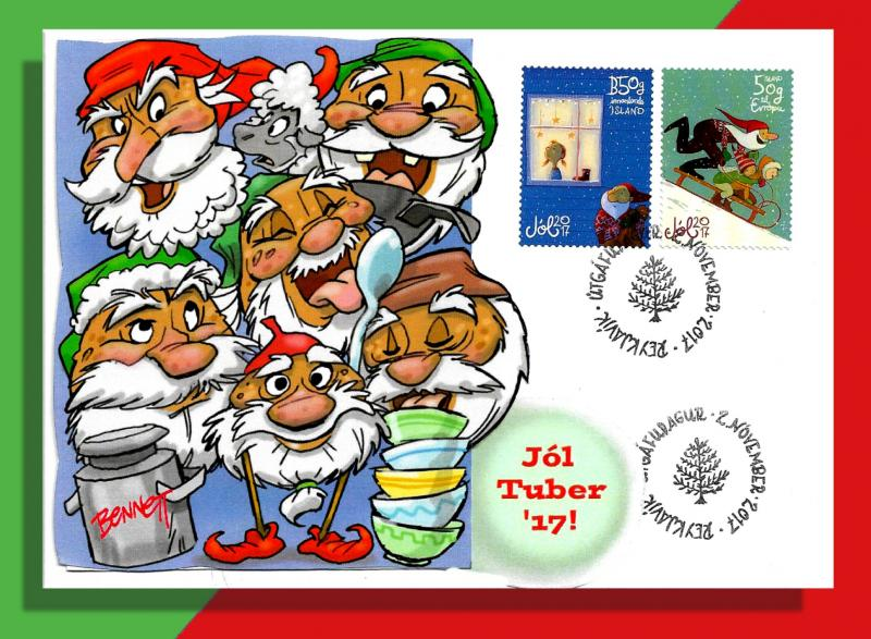 The Icelandic Yule Lads Become Spud-Elves for Ries Chapt. Yule Tuber Party!