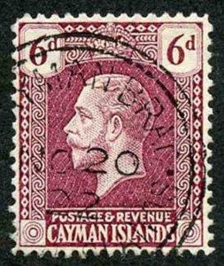 Cayman Is SG77a 6d Deep Claret Wmk Script CA Superb Used