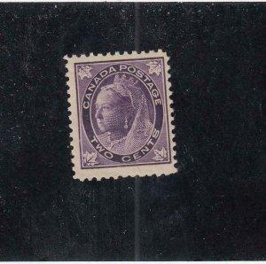 CANADA (MK4181) # 68  FVF-MNH  8cts  VICTORIA MAPLE LEAF /PURPLE CAT VALUE $180