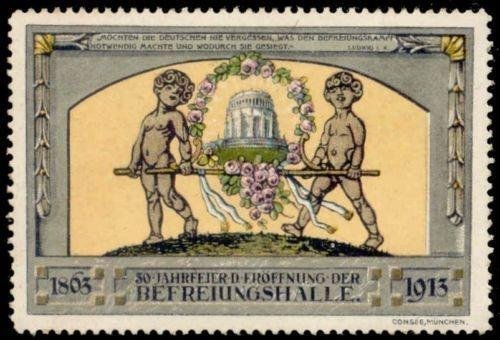 Germany 1913 Kelheim Hall of Liberation Poster Stamp
