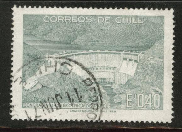 Chile Scott 377 used damn stamp 1969