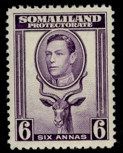 SOMALILAND PROTECTORATE GVI SG98, 6a violet, M MINT. Cat £16.