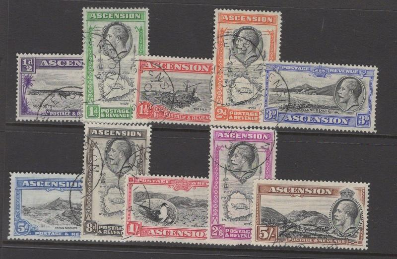 ASCENSION SG21/30 1934 DEFINITIVE SET FINE USED