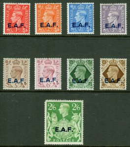 Other KGVI 1943 EAF Somalia British Occupation Set SGS1/S9 Mint MH