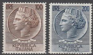 Italy #661-2 F-VF Unused  CV  $68.00  (S6757)