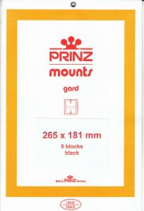 PRINZ BLACK MOUNTS 265X181 (5) RETAIL PRICE $16.50