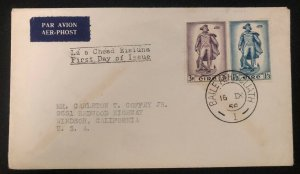 1956 Dublin Ireland First Day Cover FDC To Windsor Usa John Barry Stamp Issue