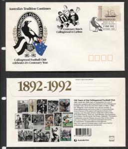 Australia - FDC - with Scott -1249 Stamp - Collingwood Centenary