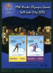 Uganda 1769a,MNH. Olympics Salt Lake City,2002.Cross-country skiing,Ski jumping.