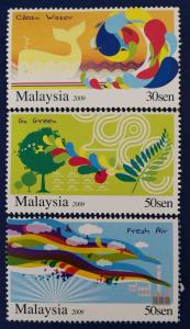 Malaysia Scott # 1248-50 Conservation of Nature Stamp Set MNH