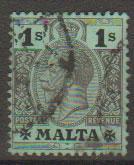 Malta SG 81a - George V  Good Used - (green back)